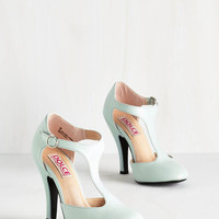 ModCloth Vintage Inspired To Pastel You the Truth Heel