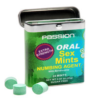 Oral Sex Mints with Extra Strong Numbing Agent