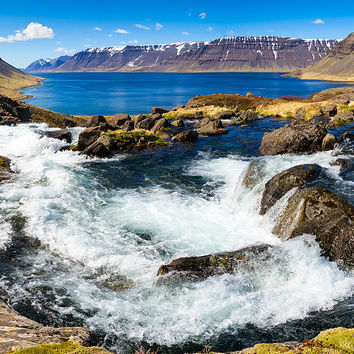 Lots Of Water In The West Fjords In Iceland