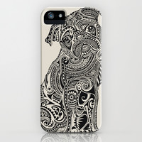 Polynesian Pug  iPhone & iPod Case by Huebucket
