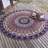 By The Moon - Scorpius Mandala Throw - Round