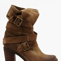 France Strapped Boot - Taupe Suede
