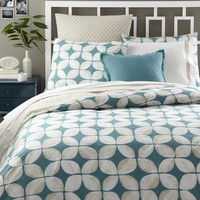 Leaf Motif Duvet Cover + Shams