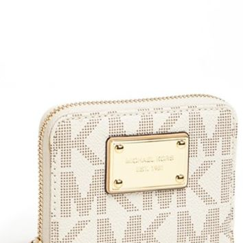 MICHAEL Michael Kors 'Jet Set 18K - Small' Zip Around Wallet | Nordstrom