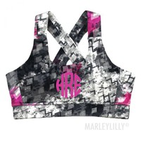 Monogrammed Criss Cross Sports Bra | Marleylilly