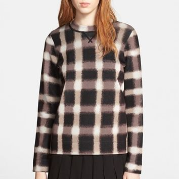 Women's MARC BY MARC JACOBS 'Blurred Gingham' Print Sweater,