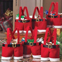 Xmas Candy Bags Santa Suspenders Shorts Pants Bag Christmas Gifts Case = 1946470340