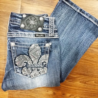 MISS ME MP7063B MIDRISE BOOTCUT JEANS
