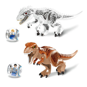 Original Jurassic Dinosaur Tyrannosaurus Building Blocks Jurassic Dinosaur Figures Bricks Toys Compatible with Legoe Toys