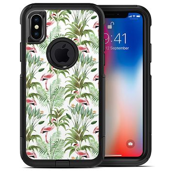 The Tropical Flamingo Jungle Scene 4 - iPhone X OtterBox Case & Skin Kits