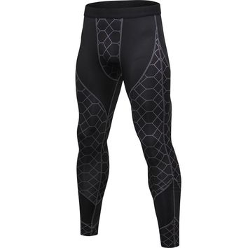 Compression Pants Mens Running Tights Fitness Workout Yoga Pants Long SlimTrousers GYM Training Leggings Men Sports Clothing