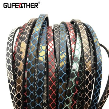 GUFEATHER 100CM leather cord/jewelry accessories/accessories parts/jewelry findings/hand made/jewelry making/embellishments