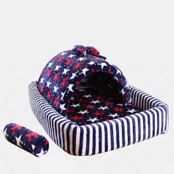Dog Nesting Bed Large House High Quality Puppy Home Pet Supplies Dogs Playpen Pet Casas  Animals Products 70Z1514-1