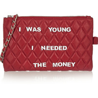 Finds - + Mua Mua embellished quilted leather clutch