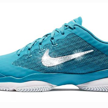 Nike Court Air Zoom Ultra Hard Court + Crystals - Light Blue Fury