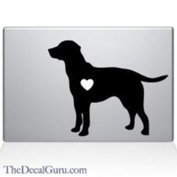 Heart Labrador Retriever Automobile Car Window Decal Tablet PC Sticker Automobile Window Wall Laptop Notebook Etc. Any Smooth Surface