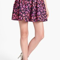 kate spade new york 'coreen' flare cotton & silk skirt | Nordstrom