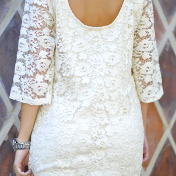 Ark & Co. Lily Of The Valley Lace Dress: Ivory | Hope's