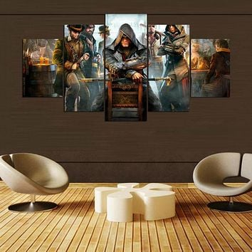 Abstract Canvas Painting Wall Art 5 Panel Movie Character Oil Poster Wall Pictures Frames For Living Room Home Decor PENGDA