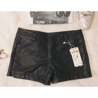 NWT Leather shorts