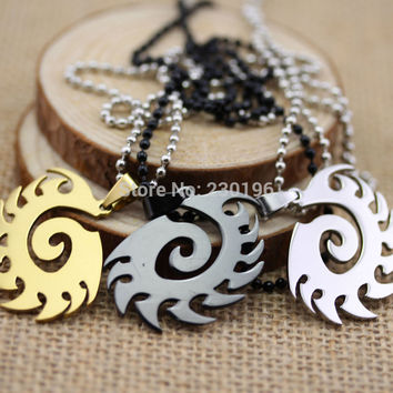 3 color Hot Game Starcraft II Zerg Necklaces Stainless Steel Pendant Free Shipping