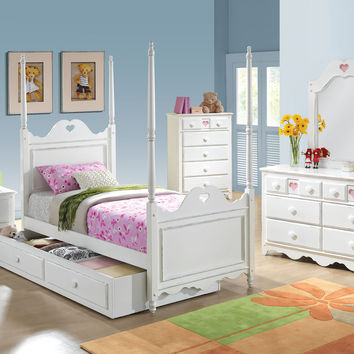 Sweetheart White Finish Hutch 30179