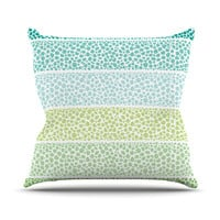 "Pom Graphic Design ""Zen Pebbles"" Green Teal Throw Pillow"