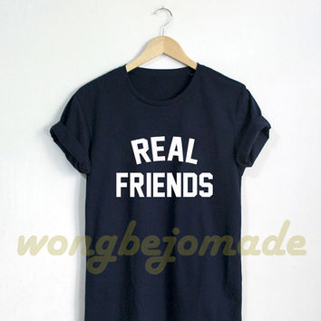 Kanye West Shirt Womens Real Friends Tshirt Life Of Pablo T-Shirt Unisex Size Tshirt
