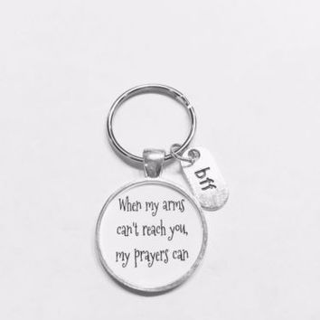 BFF When My Arms Can't Reach You My Prayers Can Long Distance Gift Keychain