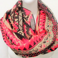 Aztec Infinity Scarf by KnitPopShop