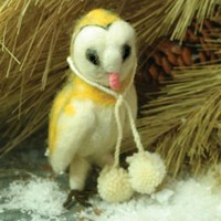 Babette The Barn Owl | Felt Owl Ornament