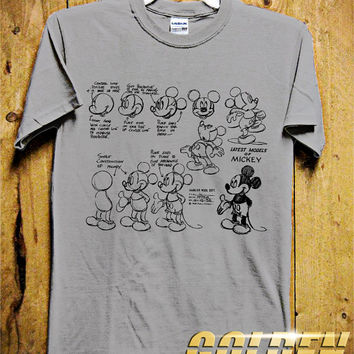 MICKEY MODEL Men T-Shirt - Mickey Mouse T-Shirt - Mickey Skecth - Disney Design for Men T-Shirt (Various All Color Available)