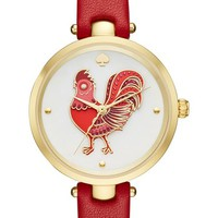 kate spade new york holland rooster leather strap watch, 34mm   Nordstrom