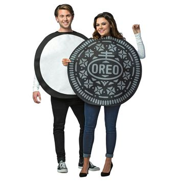 Oreo Couples Costume  2 In One