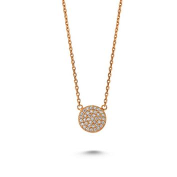 Amorium Stone Dot Rose Gold Necklace