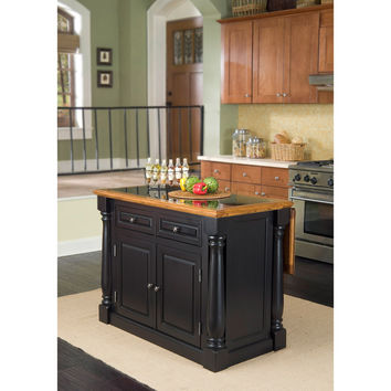 Home Styles Monarch Island Black/ Distressed Oak Finish with Granite Top | Overstock.com Shopping - The Best Deals on Kitchen Islands