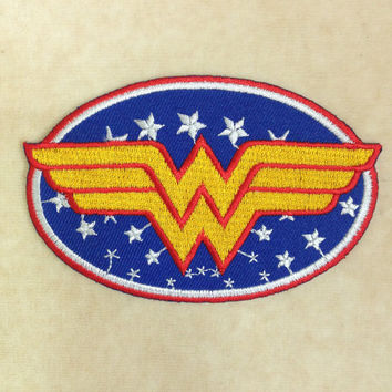 Super Hero Wonder Woman Iron On Patch #1