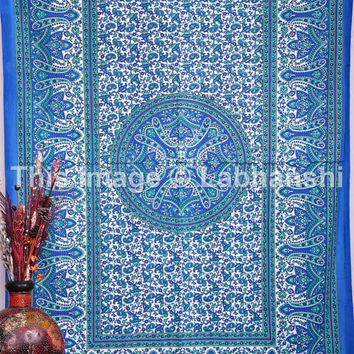 Blue Indian Tapestry Tapestries , Hippie Hippy Wall Hanging , Indian Mandala Tapestries, Dorm Tapestry , Tapestry Wall Hanging , Gypsy Soul