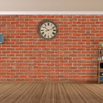 Terracotta Bricks Self Adhesive Wallpaper