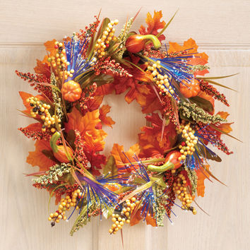 Fiber Optic Autumn Wreath