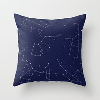 Constellation in Ink Throw Pillow by Kate Riley