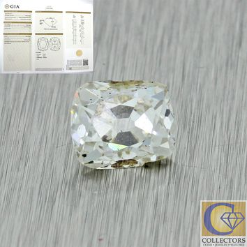 Antique 1.52ct GIA Certified Old Cushion Cut K I1 Natural Loose Diamond