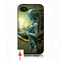 Unique Iphone Green Alien Design Iphone 4/4s case, Iphone case, Iphone 4s case, Iphone 4 cover, i phone case, i phone 4s case