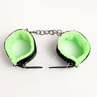 Hot Deal On Sale Hot Sale Toy Leather Metal Handcuffs [6628212803]