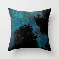 Blue, Trees, Sky, Stars - Decorative Throw Pillow Cover, 3 Sizes Available - Dorm, Home, Office, Guest Room, Gift - Made To Order - NSIJ#76