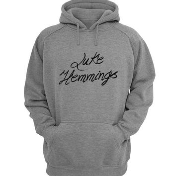 luke hemmings Hoodie Sweatshirt Sweater Shirt Gray for Unisex size with variant colour