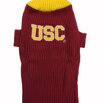 Usc Trojans Dog Sweater Small