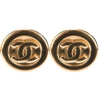 Chanel Vintage Logo Clip On Earrings - Rewind Vintage Affairs - Farfetch.com