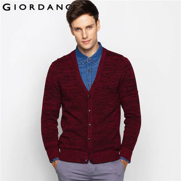 Men Sweaters Cardigan Long Sleeves V-neck Jacquard Button Cardigans Man Casual Knitwear Famous Clothing