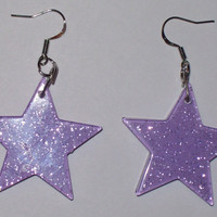 Lady Stardust - Glam Rock Glitter Star Earrings